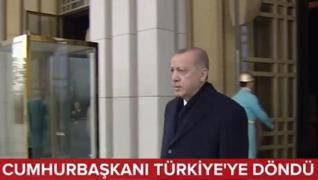 <p>ABD programını tamamlayan Başkan Recep Tayyip Erdoğan, Türkiye'ye döndü. Erdoğan New York'taki te