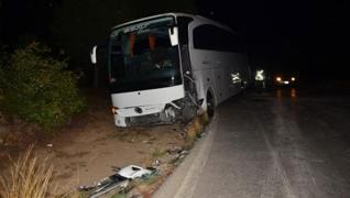 <div><p></p><p><span style='font-size: 1.6rem;'>Antalya'nın Manavgat ilçesinde tur otobüsü ile otomo