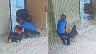 <p>Dakikalarca işkence etti. Ayaklarının  altına aldığı çocuk engelli bir öğrenciydi.</p><p>kendi yo