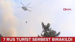 <p>Antalya'nın Konyaaltı ilçesinde kamp  sırasında yaktıkları ateşle orman yangınına neden oldukları