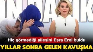 20 yıldır arıyordu... Kadriye hiç görmediği ailesine Esra Erol'da kavuştu!