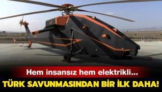 Türk savunmasından bir ilk daha... Hem insansız hem elektrikli