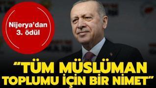 Başkan Erdoğan, Uğur Şahin ,Özlem Türeci ve Mesut Özil... Nijerya'dan 3. ödül