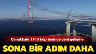 Çanakkale 1915 köprüsünde çalışmalar hız kesmiyor: Blok taşıma işleminde sona yaklaşıldı