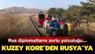 Kuzey Kore'den Rusya'ya... Rus diplomatların zorlu yolculuğu