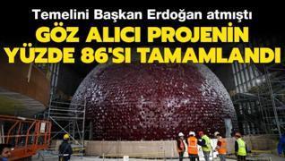 Dev projede sona doğru:Temelini Başkan Erdoğan atmıştı: Yüzde 86'sı tamamlanan göz alıcı projedeki çalışmalar görüntülendi Tarih belli oldu