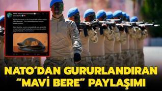 NATO'dan gururlandıran 'Mavi Bere' paylaşımı