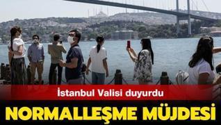 İstanbul Valisi'nden normalleşme müjdesi