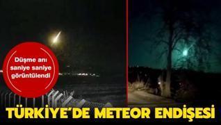 Meteor düşmesi birçok ilden görüntülendi
