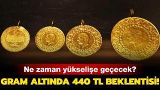 Gram altında 440 TL beklentisi! Altın fiyatların ne zaman yükselişe geçecek?