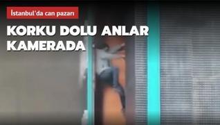 Ataşehir'de can pazarı: Yangında mahsur kaldılar