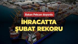 Bakan Pekcan'dan şubat ayı ihracatı açıklaması: 'Tüm zamanların en yüksek rakamı'