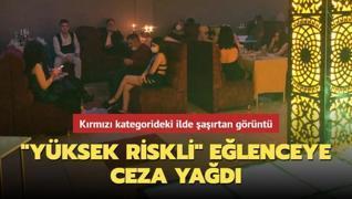 Kırmızı kategoride yer alan Konya'daki eğlence mekanında şaşırtan görüntüler