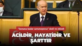 Son dakika haberi: MHP lideri Bahçeli'den HDP açıklaması: Kapatılması acildir, hayatidir ve şarttır