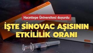 Sinovac aşısının etkililik oranı açıklandı