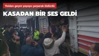 Yoldan geçen yayaya çarptı kasasından 114 kaçak göçmen çıktı