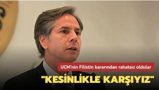 ABD'den UCM'nin Filistin kararına tepki