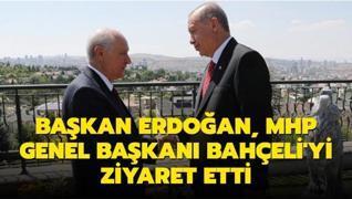 Başkan Erdoğan, MHP Genel Başkanı Bahçeli'yi ziyaret etti