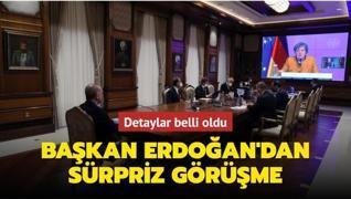 Son dakika: Başkan Erdoğan Almanya Başbakanı Merkel ile görüştü