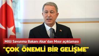 Milli Savunma Bakanı Akar'dan Mısır açıklaması