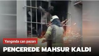 Yangında can pazarı: Demir korkuluklar kesilerek kurtarıldı