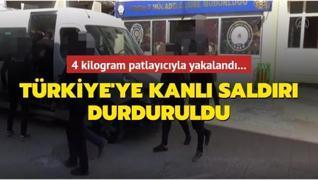 Saldırı hazırlığındaki PKK/YPG'li terörist patlayıcıyla yakalandı