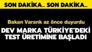 Dev akıllı telefon markası Türkiye'deki test üretimine başladı