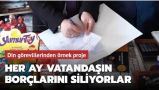 Sivas'ta din görevlileri her ay ihtiyaç sahiplerinin borçlarını siliyor