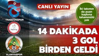14 dakikada 3 gol birden   CANLI