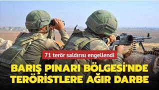Barış Pınarı Bölgesi'nde teröristlere ağır darbe