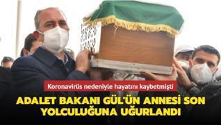 Adalet Bakanı Abdulhamit Gül'ün annesi Saliha Gül, Gaziantep'te son yolculuğuna uğurlandı