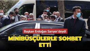 Başkan Erdoğan minibüsçülerle sohbet etti