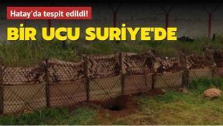 Hatay'da bir ucu Suriye'de olan 100 metrelik tünel tespit edildi