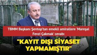 TBMM Başkanı Mustafa Şentop'tan emekli amirallere 'Mareşal Fevzi Çakmak' cevabı