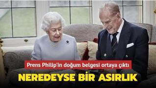 Neredeyse bir asırlık... Prens Philip'in doğum belgesi ortaya çıktı