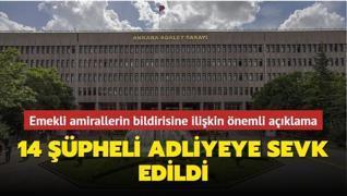 Ankara Başsavcılığından 104 emekli amirale ilişkin önemli açıklama