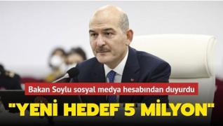 Bakan Soylu yeni hedefi duyurarak çağrıda bulundu