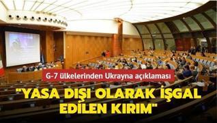 G-7 ülkelerinden Ukrayna açıklaması