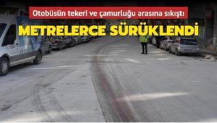 Otobüs çarptığı yayayı 160 metre sürükledi... Eskişehir'de feci kaza