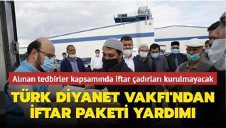 Türk Diyanet Vakfı'ndan 20 bin kişiye iftar paketi yardımı