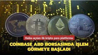 Halka açılan ilk kripto para platformu... Coinbase ABD borsasında işlem görmeye başladı
