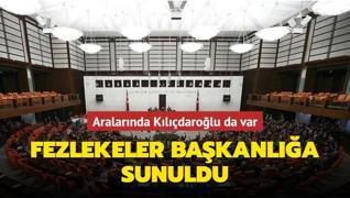 Kılıçdaroğlu da dahil 10 milletvekilinin dokunulmazlık dosyaları başkanlığa sunuldu