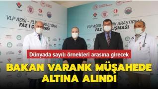 VLP temelli Covid-19 aşısı için gönüllü olan Bakan Varank müşahede altında