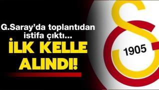Ve Galatasaray'da istifa kararı!