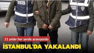 21 yıldır her yerde aranıyordu: Cinayet zanlısı İstanbul'da yakalandı