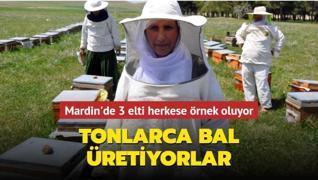 Mardin'de 3 elti herkese örnek oluyor... Tonlarca bal üretiyorlar!