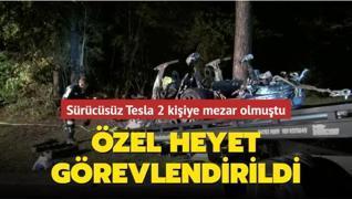 Sürücüsüz Tesla 2 kişiye mezar olmuştu... Özel heyet görevlendirildi