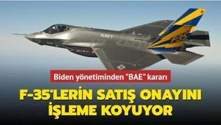 Biden yönetiminden 'BAE' kararı... F-35'lerin satış onayını işleme koyuyor