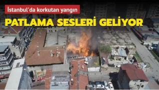 İstanbul'da kimyasal madde dolu depoda yangın