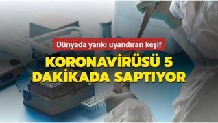 Japon bilim adamları keşfetti... Koronavirüsü 5 dakikada saptıyor